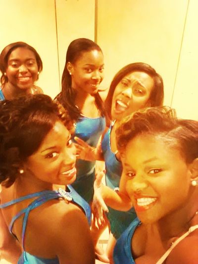 Old Pic Of Me & The Girls At The Nubian Ball