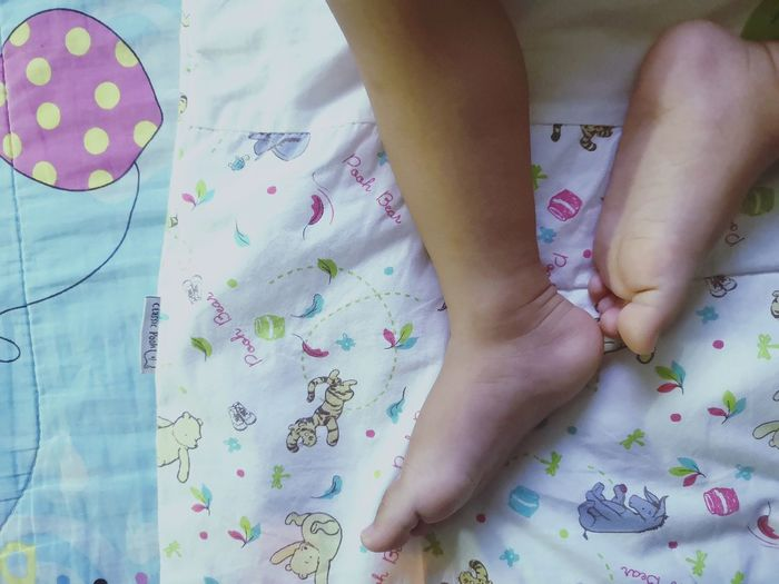 Baby leg Baby ❤ Life Slepping Leg Low Section Child Childhood Multi Colored Bedroom Human Leg Leg barefoot Human Foot Close-up Foot Human Feet Feet