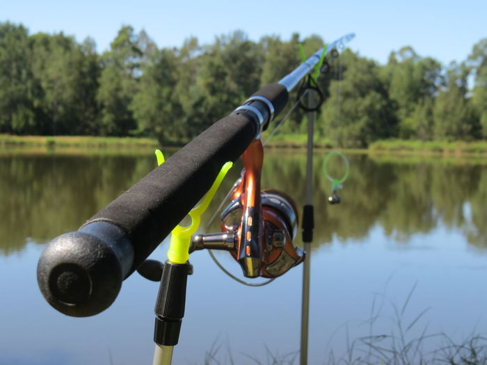 Waiting for a big fish to be coutch Fishing Lake Fishing Rod Nature Outdoors