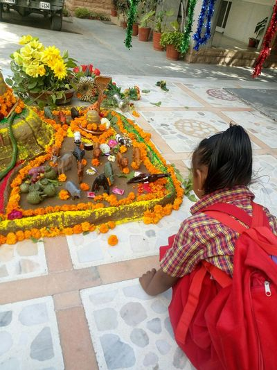 At day of Mahashivrathri,Tanushree in her school...