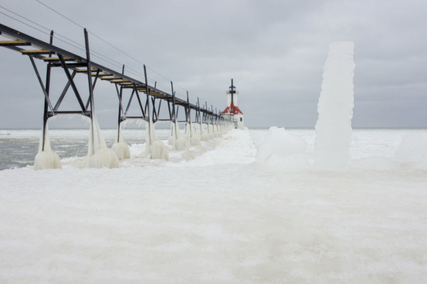 Standing Out Cold Winter ❄⛄ Freezing ❄ FreezingMyAssOff Home Decor!! Ice Iceicles Inspirational Photography Lake Michigan Lake Michigan Lighthouses Landmark Lanscape Photography Office Decor Pier Snow ❄ Snowing ❄ St. Joseph Lighthouse, Michigan Travel Destinations Travel Photography Water Winter Wonderland Winterscapes