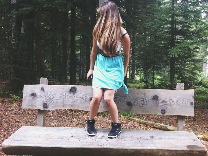 I am lost That's Me Girl Bench Dress Forest