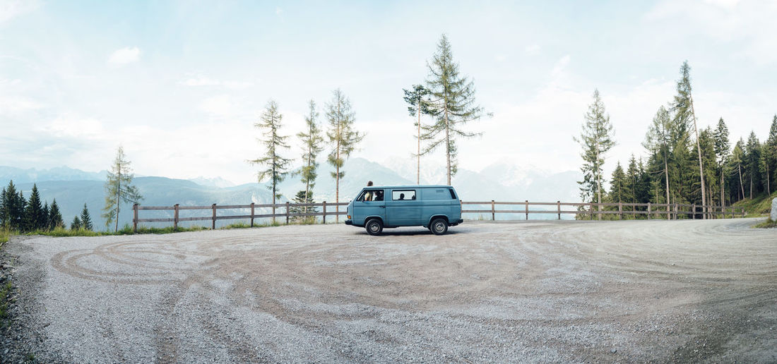 Travel Journey Car Transportation Sky Nature Tree Adventure No People Vacations Beauty In Nature Outdoors Day Vanagon T3 VwT3 Vwt25 Soloparking Roadtrip