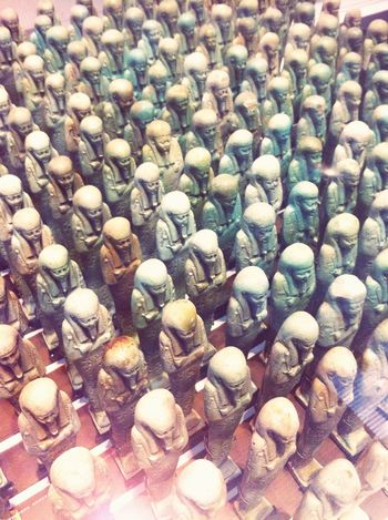 Louvre-Lens. Build an army that will protect you in life and in death. Make it invincible. Make it immortal. Ancientegypt Egypt Immortal Statue Army