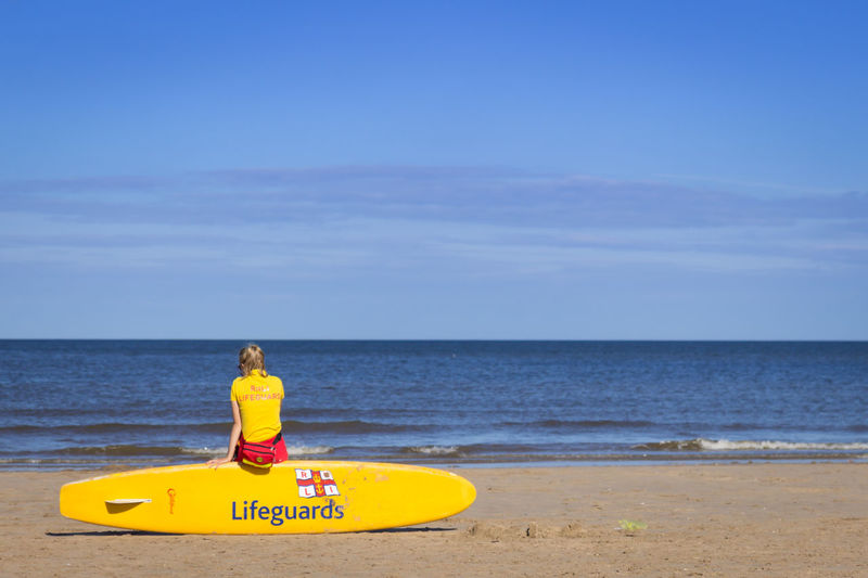 Beach Lifeguard  Mablethorpe Mablethorpebeach Safety Sunny Day Working Life