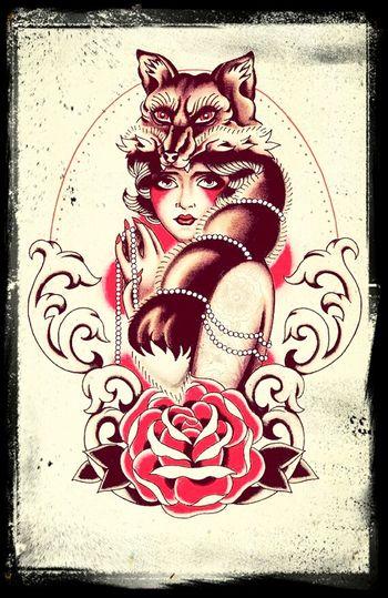 Tattoo Design Westpoink Fox #Women