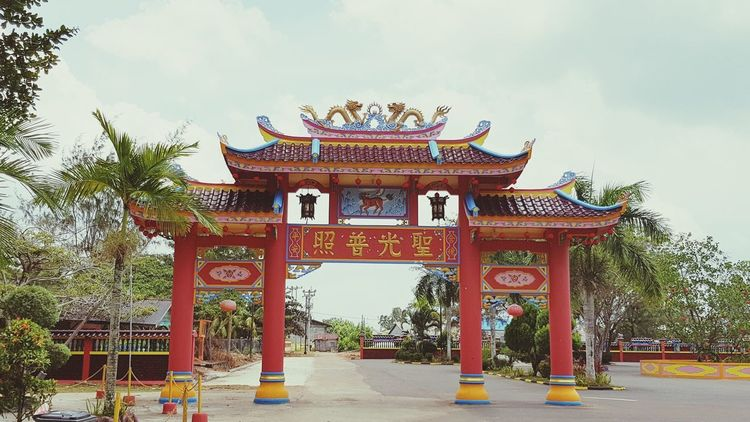 Chinese Chinese New Year Imlek Senggarang Architecture Gate Built Structure Ancient Red