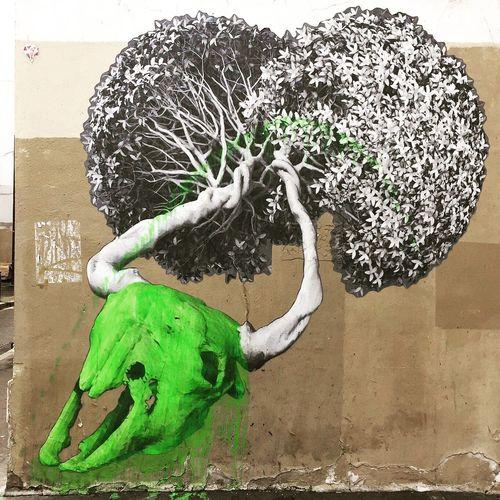 #skulls by @thisisludo #thisisludo #streetart #graffiti #graff #spray #bombing #sprayart #wall