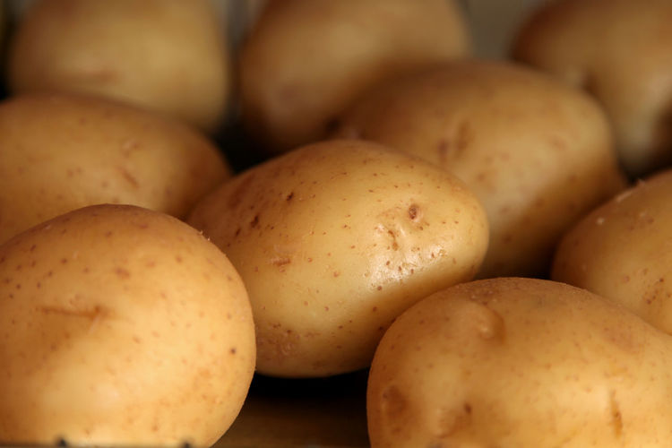 Close-Up Of Potatoes For Sale At Market