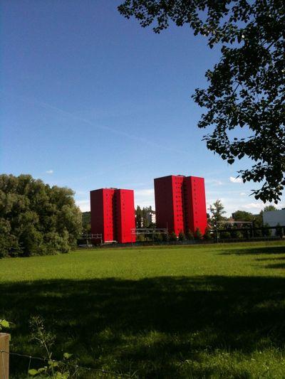Architecture Limmattal Red Bluesky Landmarks in Dietikon