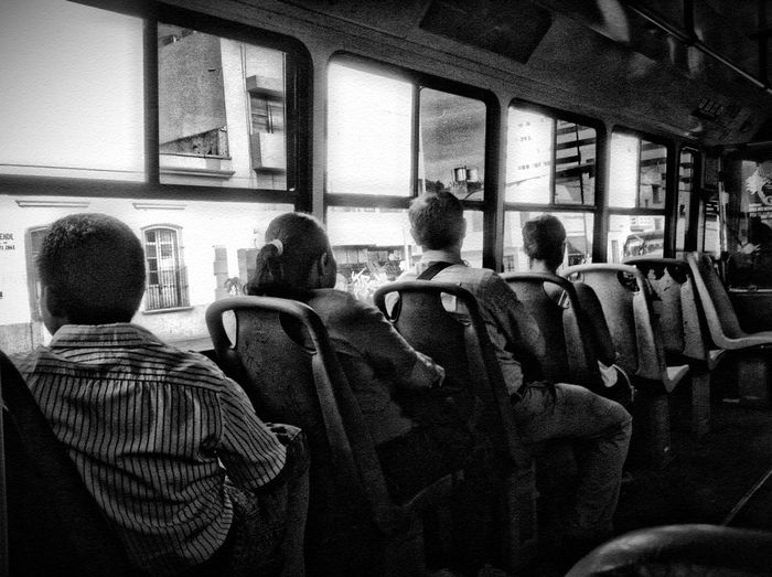 People sitting in bus