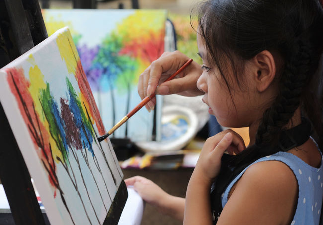Colors Art And Craft Artist Brush Child Painting Childhood Creativity Easel Leisure Activity Paintbrush Painting Palette Teaching Arts This Is My Skin