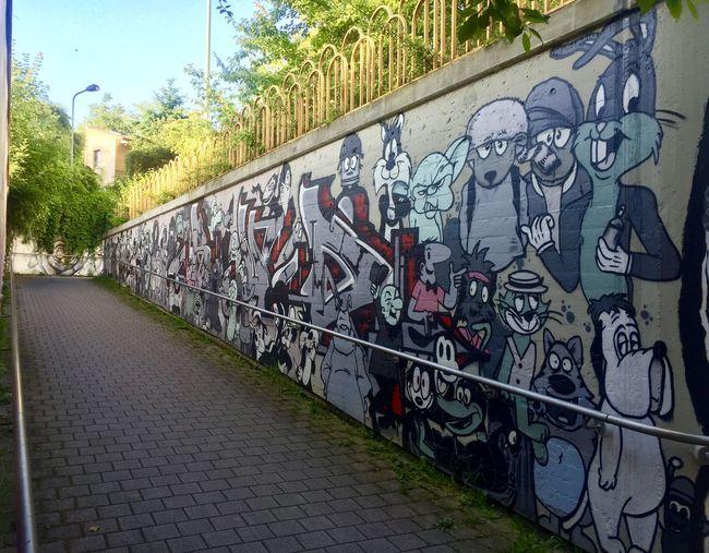 Unterführung Ginnheimer Wäldchen/Woogstraße Evening Sun Graffiti
