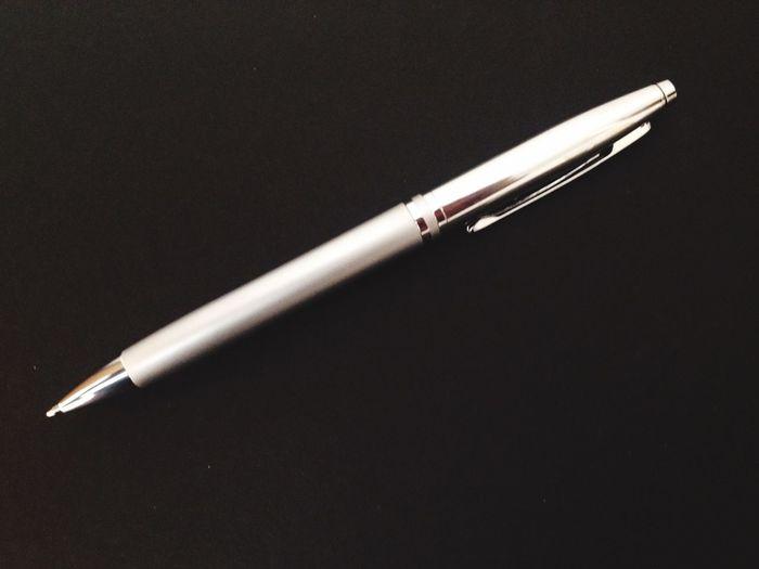 Steel silver biro pen Steel Silver  Biro Pen