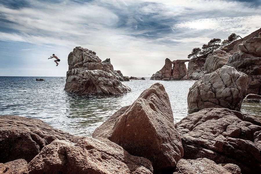 SPAIN (null) Lloret De Mar Stone Stones Beach EyeEm Spain Traveling Travelling Travel landscapes