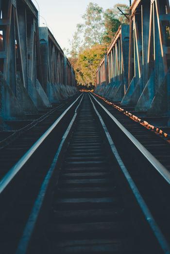 View Of Railway Bridge During Sunset