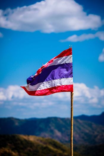 Flag Flag Pole Close-up thailand Wind Outdoors