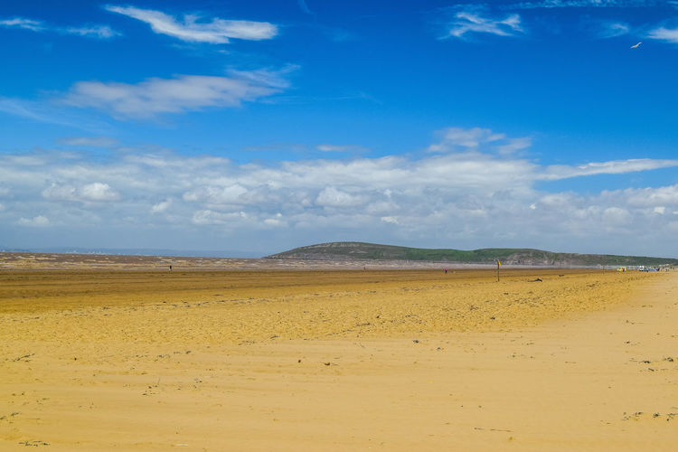 Sky Cloud - Sky Land Scenics - Nature Tranquil Scene Tranquility Beauty In Nature Non-urban Scene Sand Blue Landscape Nature Day No People Environment Horizon Outdoors Arid Climate Beach Photography Blue Sky Horizon Over Water Brean Down Idyllic Beach Space For Text Space For Copy