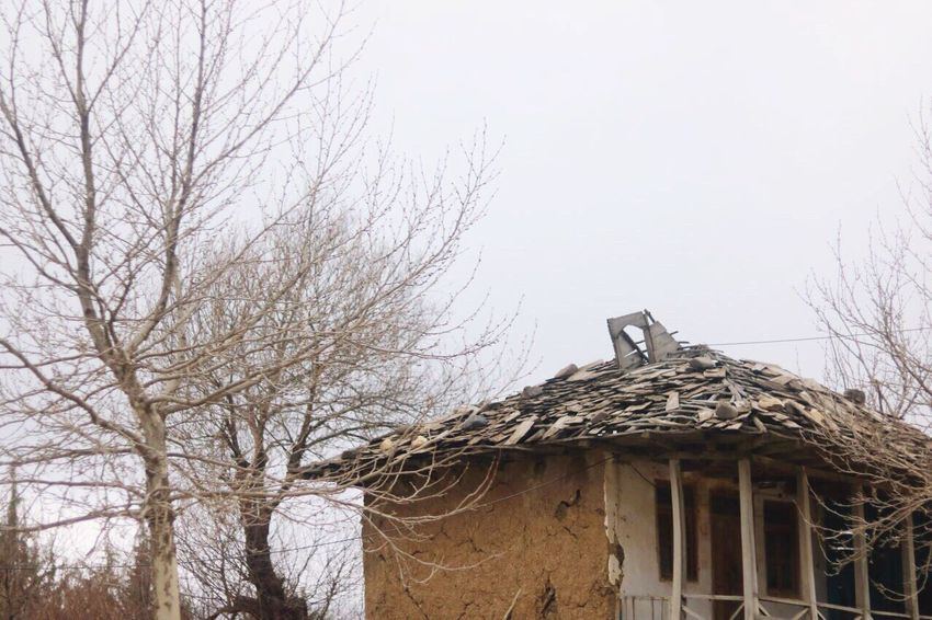 Gilan,iran Outdoors Clear Sky Wood - Material Foggy Tradition Traditional Culture Architecture Building Exterior Built Structure Branch Roof Nature Bare Tree Cold Temperature Low Angle View Gilanphotography The Architect - 2017 EyeEm Awards