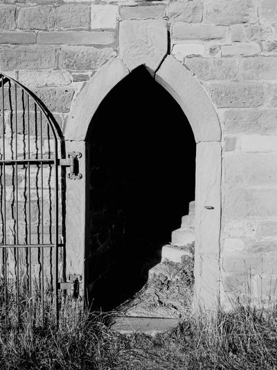 Black & White /// Black And White Door Castle Old