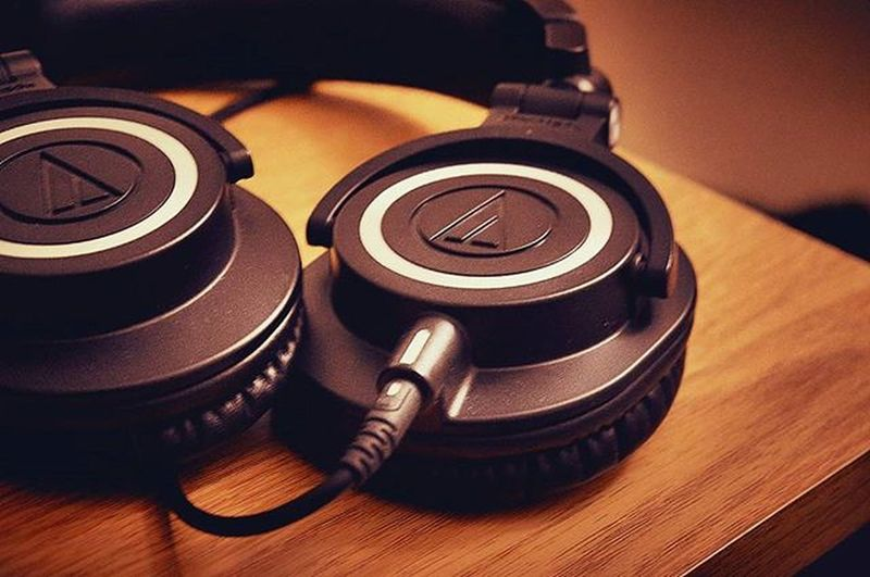 Audiotechnica M50x Studio Headphones Clicked with Nikon D3200 DSLR Edited with Mix Afterlight Insta Instagram Picfortheday