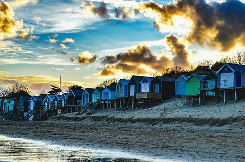 Spoilt with sunsets. Sunset Abersoch Welovellyn Northwalestagram Home Beachhuts Beach Beachlife Spring the great outdoors with adobe