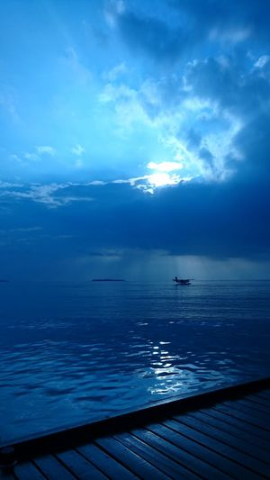 Blue Sky Blue Night Blue Sky And Clouds Beauty In Nature Sea Scenics Sky Nature Outdoors