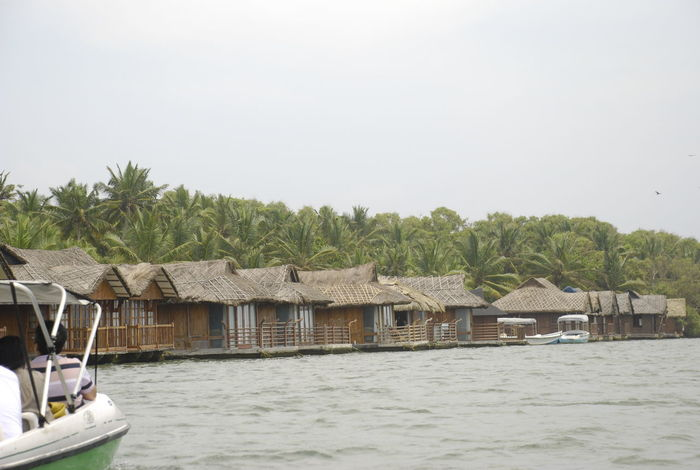 Water Day Tree Outdoors Stilt House Nautical Vessel Houseboat Architecture No People Building Exterior Nature Sky Poovar Lake Boat Houseboats Kerala, India