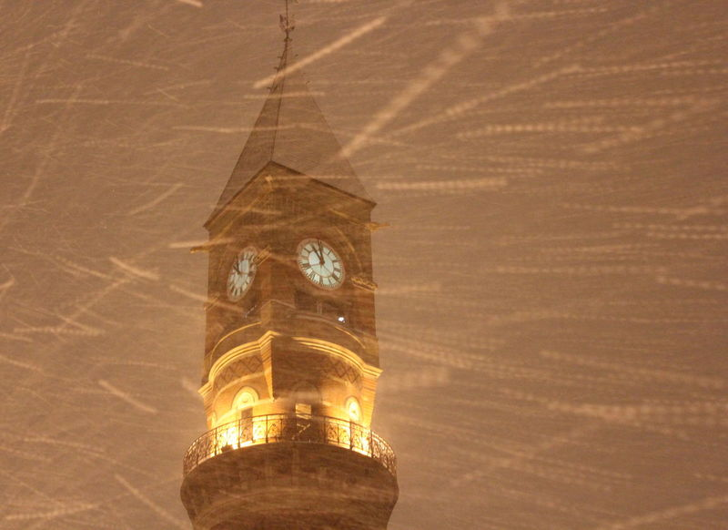 Architecture Building Exterior Built Structure Church Blizzard 2013 Blizzards Snow ❄ Snowing Weather Clock Clock Tower Copy Space History Jefferson Market Library Low Angle View New York City Life Place Of Worship Religion Snow Storm 2013 Nemo Spirituality Time Tower West Village West Village , Manhattan , NY.