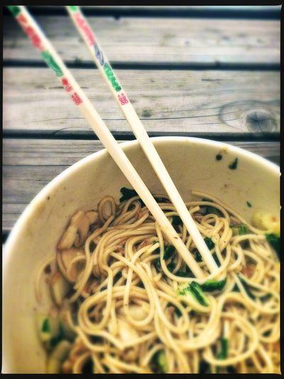 Noodles Food Chopsticks Lunch Eating Street Asian  Rotterdam Fg