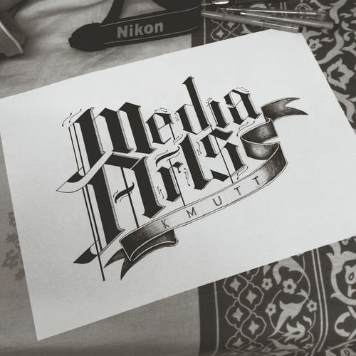 My Typography 'Media Arts KMUTT'