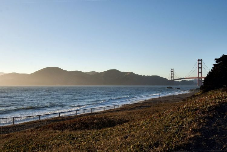 San Francisco Beach Golden Gate Bridge Sunset California Bay Area Ocean Traveling Landscape My Best Photo 2014