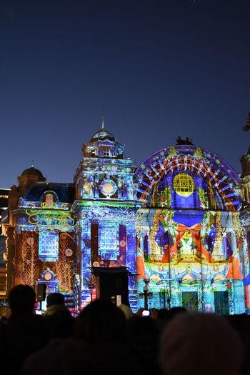 大阪・中之島「OSAKA光のルネサンス」 中之島公会堂・プロジェクションマッピング Nakanoshima Koukaidou Osaka,Japan Architecture Built Structure Dusk Illuminated Nakanoshimarosegarden Night Projection Mapping Sky