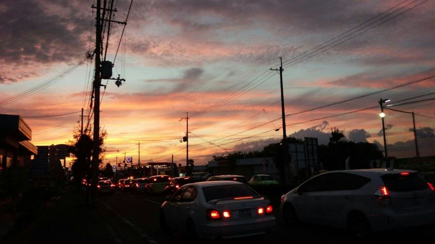 Sunset #sun #clouds #skylovers #sky #nature Beautifulinnature Naturalbeauty Photography Landscape [a:Sunset_collection Sunrise And Sunsets Sunrise_sunsets_aroundworld 夕焼け Sunrise_Collection 空 On The Road Am Only Photography