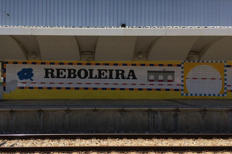 Lisbon - Portugal Plate Portugal Reboleira Train Station