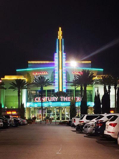 Century Theaters City Politics And Government Illuminated Neon Architecture