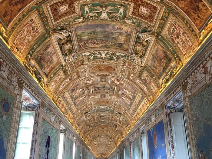Colors And Patterns TakeoverContrast Color Of Life Color Palette Capital Cities  Italy Rome Vatican VaticanCity Celing Painting Famous Place Tourism Indoors  Ornate