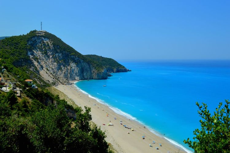 Milos beach in Lefkada, After a long way up the mountain this was the view :)) Beach Beauty In Nature Blue Clear Sky Cliff Coastline The Great Outdoors - 2017 EyeEm Awards Horizon Over Water Idyllic Mountain Nature Non-urban Scene Ocean Outdoors Rock Formation Scenics Sea Seascape Shore Sky Tourism Tranquil Scene Tranquility Vacations Water Been There.