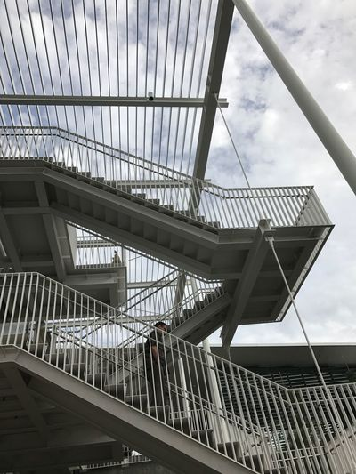 Stairwell outside stairs architecture steel