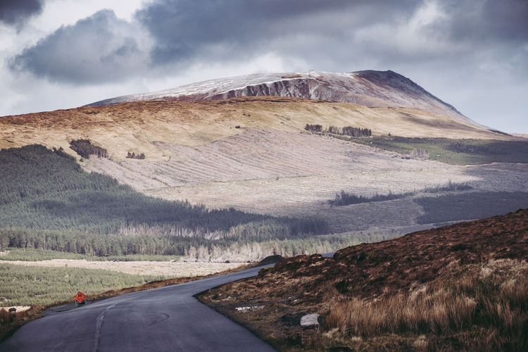 Ireland Donegal Mountain Landscape Road Road Trip Cloudy Rock Formation