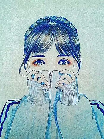 Ball point pen to draw Chinese girl. 画 First Eyeem Photo
