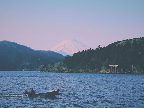 Mt.Fuji Nature No People Mountain Animal Themes Outdoors Scenics Winter Day Landscape Water Beauty In Nature Mammal Sky Tree Humpback Whale in Japan