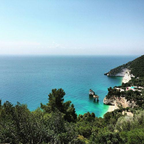 Mare.. Puglia Gargano Mare Cielo Vacanza Roccia Scogli Colours Sea Sea And Sky