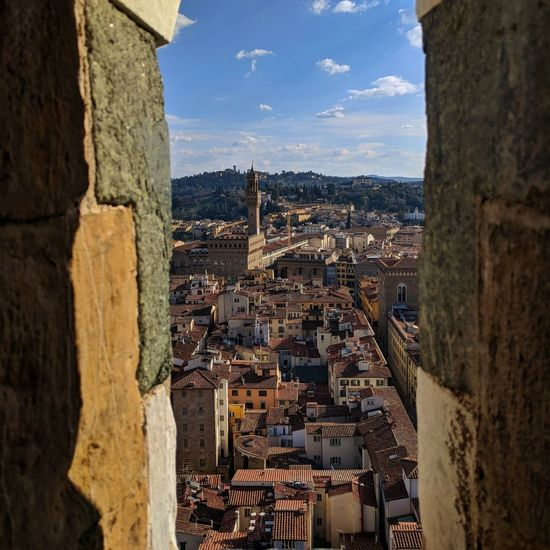 Perfect Skyline View. Florence Italy Firenze Water Sea Residential Building Bell Tower - Tower Church Historic Ancient History Civilization Fortress Ancient Rome