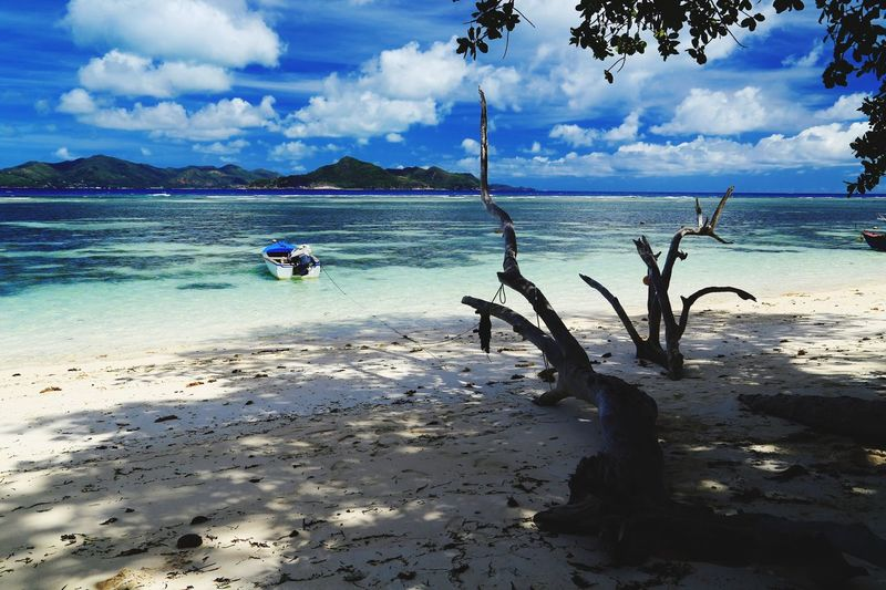 ..... and relax ...! Sea Cloud - Sky Beach Scenics Beauty In Nature Horizon Over Water Outdoors Seychelles La Digue