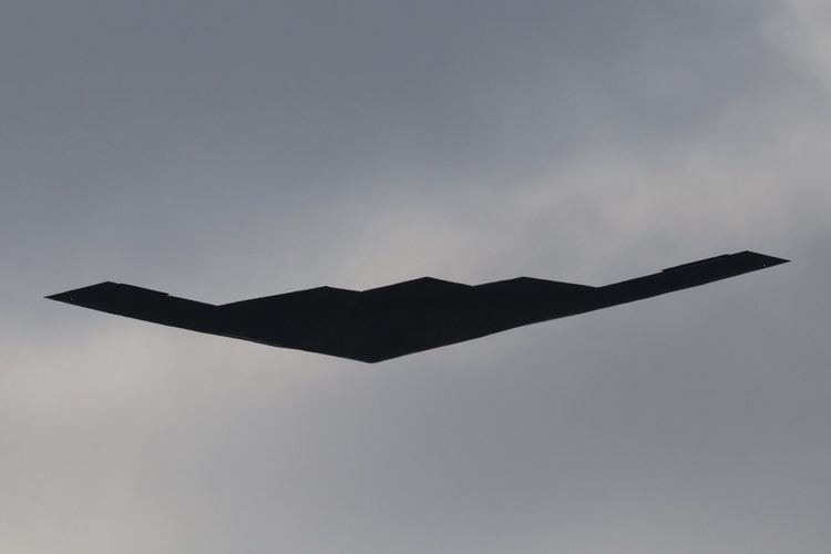 USAF B2 B2 Bomber B2 B2 Stealth Bomber United States Air Force USAF RIAT Royal International Air Tattoo RIAT 2018 No People Sky Low Angle View Flying Nature Mid-air Day