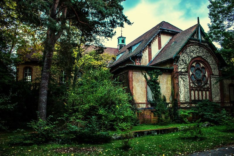 Parto of an abandoned hospital in Berlin #hospital Tree Sky Grass Abandoned Ruined Deterioration First Eyeem Photo #urbanana: The Urban Playground