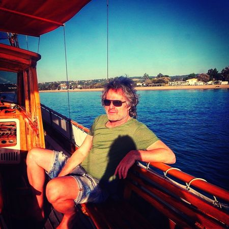 Beautiful Day Calm Water Calmness Boat Sunglasses Sea Water Portrait Real People