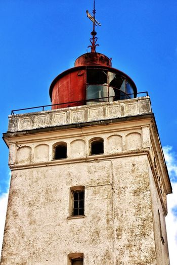 Architecture Low Angle View Lighthouse Building Exterior Clear Sky Sky Architecture_collection Denmark Rubjerg Knude Fyr Lønstrup Nordjylland Blue Sky Nr Rubjerg