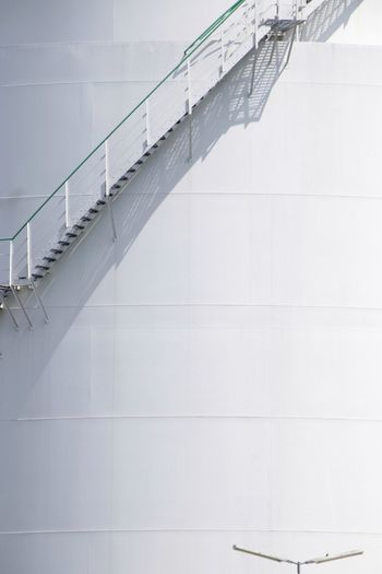 Low angle view of staircase on building